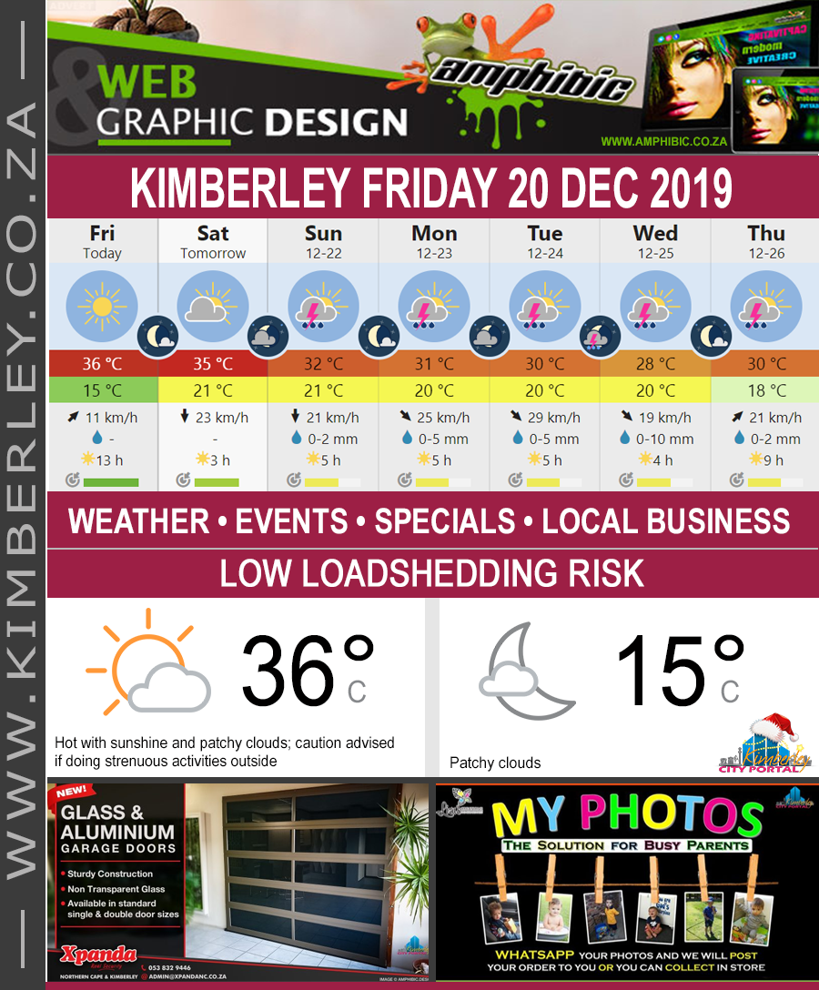 Today in Kimberley South Africa - Weather News Events 2019/12/20