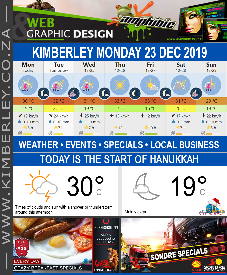 Today in Kimberley South Africa - Weather News Events 2019/12/23