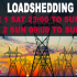 Loadshedding Stage 1 SAT 23:00 to SUN 09:00