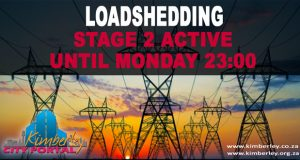Loadshedding Stage 2 Active until 2300