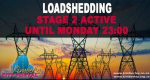 Loadshedding Stage 2 Active until 2300