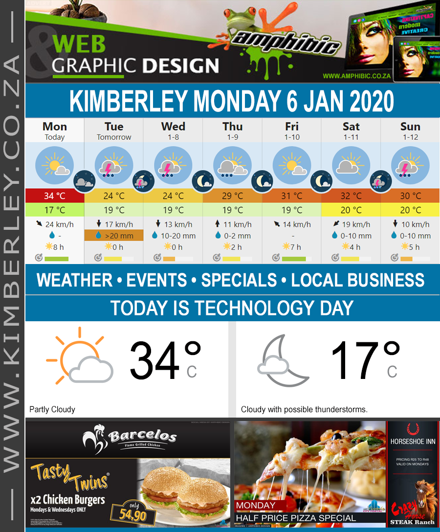 Today in Kimberley South Africa - Weather News Events 2020/01/06