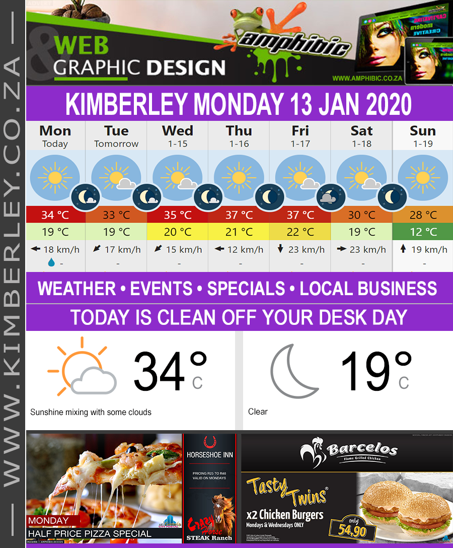 Today in Kimberley South Africa - Weather News Events 2020/01/13