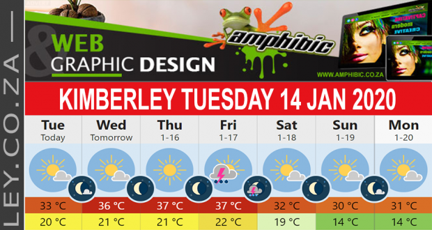 Today in Kimberley South Africa - Weather News Events 2020/01/14