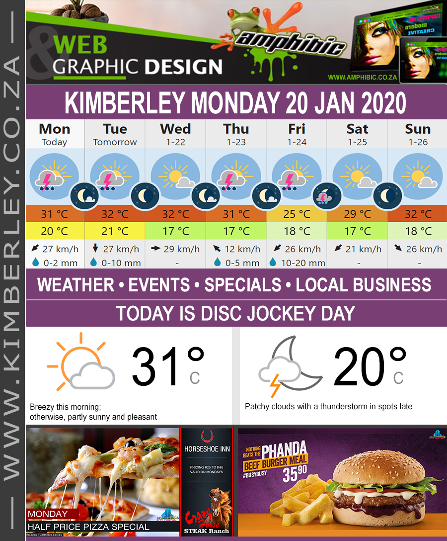 Today in Kimberley South Africa - Weather News Events 2020/01/20