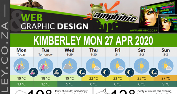Today in Kimberley South Africa - Weather News Events 2020/04/27