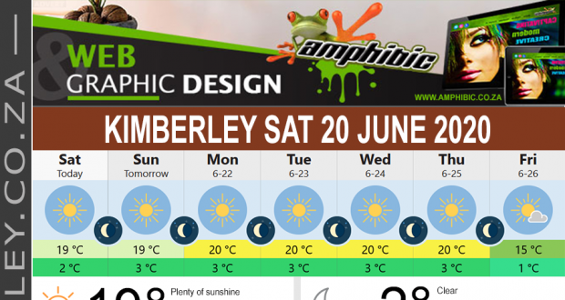 Today in Kimberley South Africa - Weather News Events 2020/06/17Today in Kimberley South Africa - Weather News Events 2020/06/20