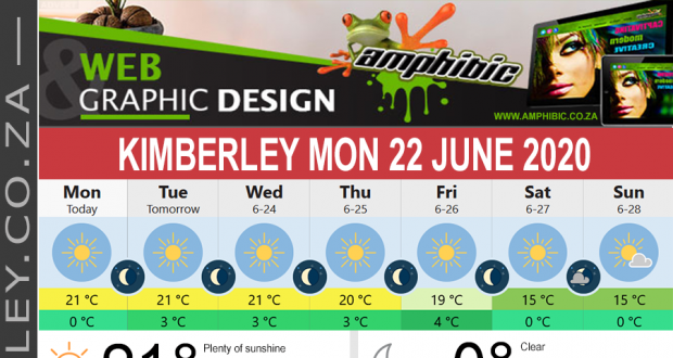 Today in Kimberley South Africa - Weather News Events 2020/06/17Today in Kimberley South Africa - Weather News Events 2020/06/22
