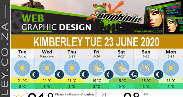 Today in Kimberley South Africa - Weather News Events 2020/06/17Today in Kimberley South Africa - Weather News Events 2020/06/23