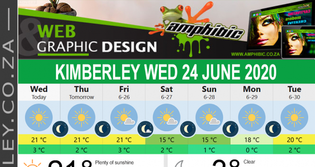 Today in Kimberley South Africa - Weather News Events 2020/06/17Today in Kimberley South Africa - Weather News Events 2020/06/24