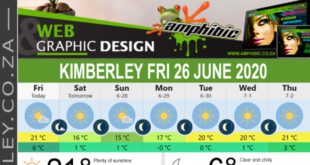 Today in Kimberley South Africa - Weather News Events 2020/06/17Today in Kimberley South Africa - Weather News Events 2020/06/26