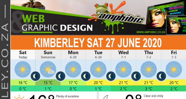 Today in Kimberley South Africa - Weather News Events 2020/06/17Today in Kimberley South Africa - Weather News Events 2020/06/27