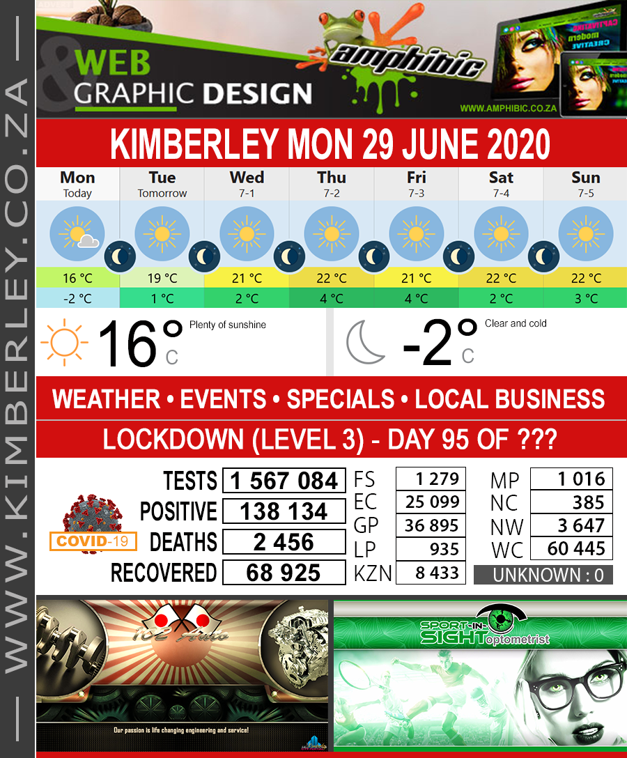 Today in Kimberley South Africa - Weather News Events 2020/06/17Today in Kimberley South Africa - Weather News Events 2020/06/29